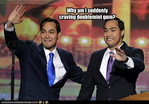 craving,dnc,double,gum,Joaquin Castro,Julian Castro,twins