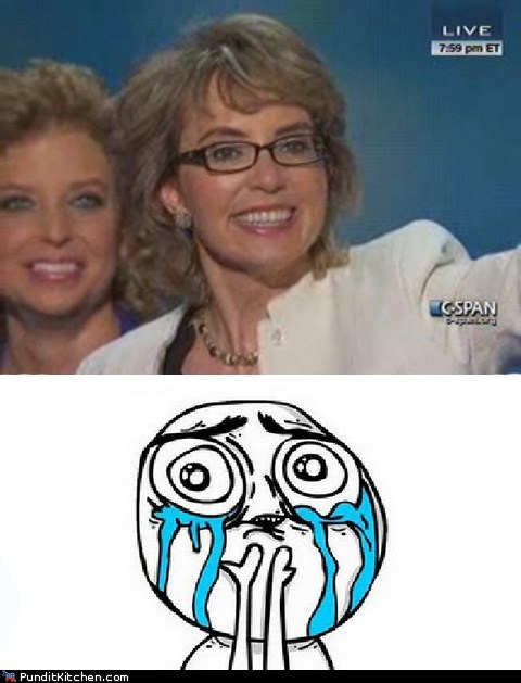Gabby Giffords happy crying pledge of allegiance - 6568382464
