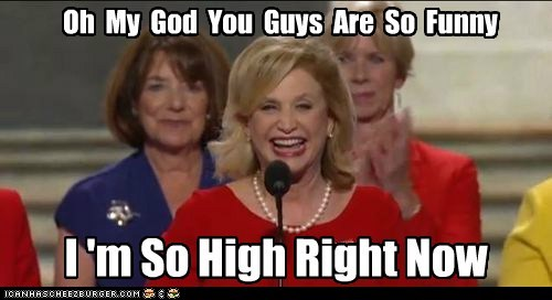 dnc drugs funny high out of it women