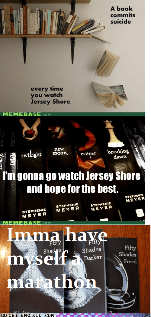 book fifty shades of grey jersey shore suicide TV - 6568526848