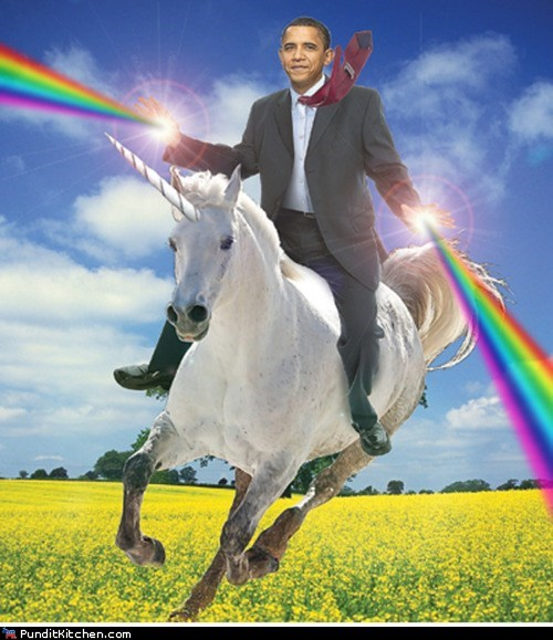 barack obama,rainbows,superhero,unicorn