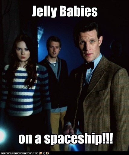 jelly babies doctor who spaceship Matt Smith karen gillan amy pond the doctor rory williams arthur darvill dinosaurs - 6568775424