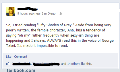 fifty shades of grey,george takei,oh my