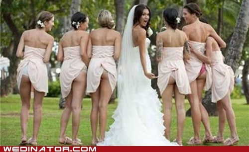 bridesmaids butts dress mishap funny oops underwear