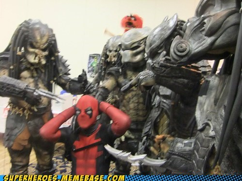 awesome,bad idea,costume,deadpool,Predator