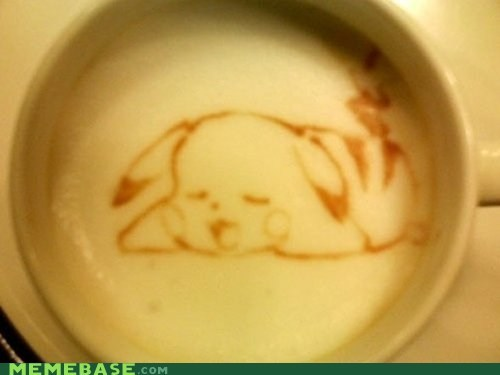 art,coffee,cute,IRL,pikachu