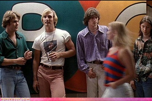 dazed and confused funny matthew mcconaughey Movie the fw Then And Now - 6570117632