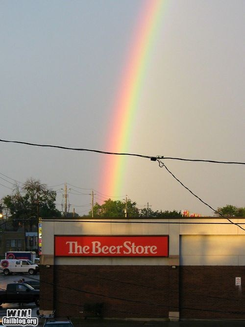 alcohol,beer,pot of gold,rainbow