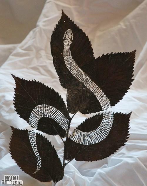 art design leaf nature snake - 6570225152