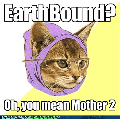 earthbound,hipster cat,meme,mother 2,snes