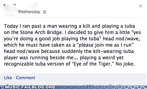 eye of the tiger,facebook,survivor,tuba