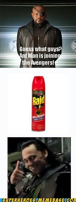 ant man,avengers,loki,raid