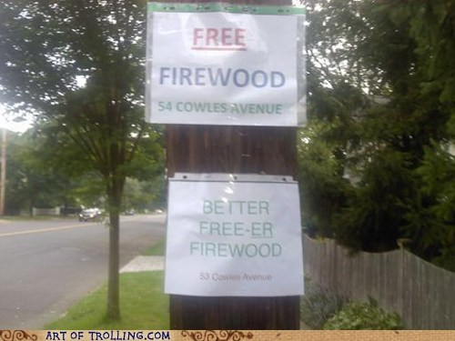 firewood free IRL sign - 6570565632