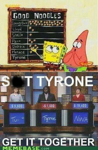get it together gold stars inside jokes Jeopardy SpongeBob SquarePants tyrone - 6570629632