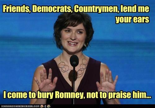 democrats dnc julius caesar praise Sandra Fluke shakespeare - 6570839296