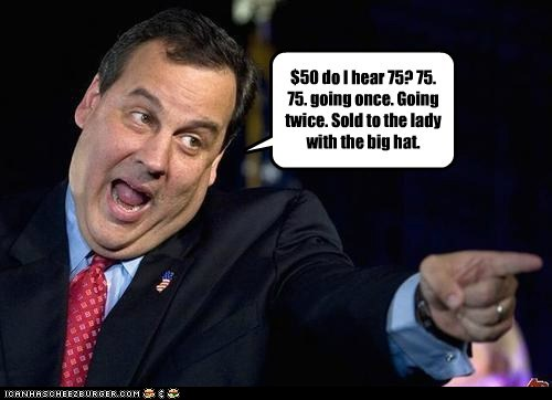 auction Chris Christie bidding sold pointing - 6570969088