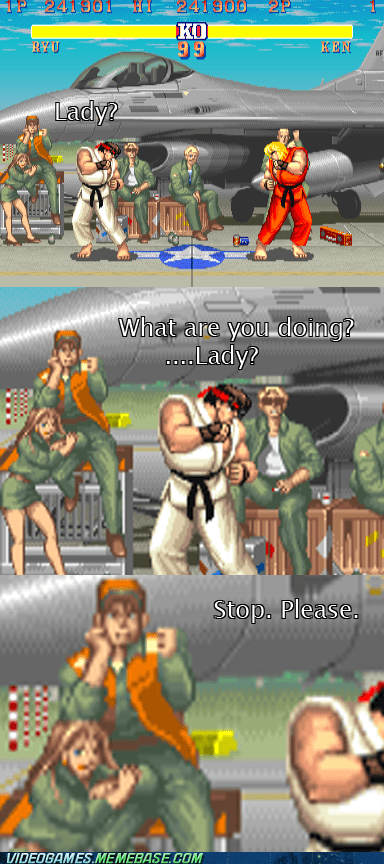 lady street fighter 2 weird wtf - 6571008512