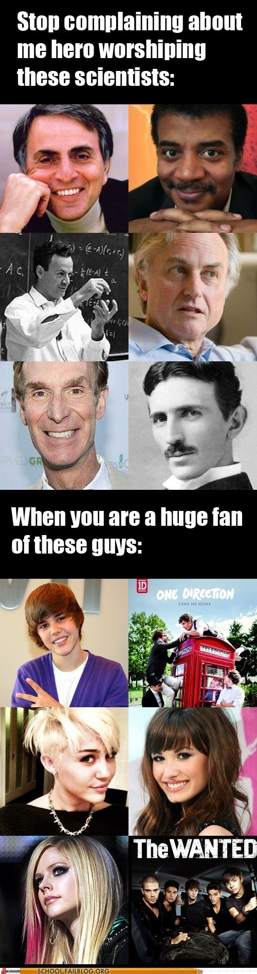 exactly,hero worship,one direction,scientists