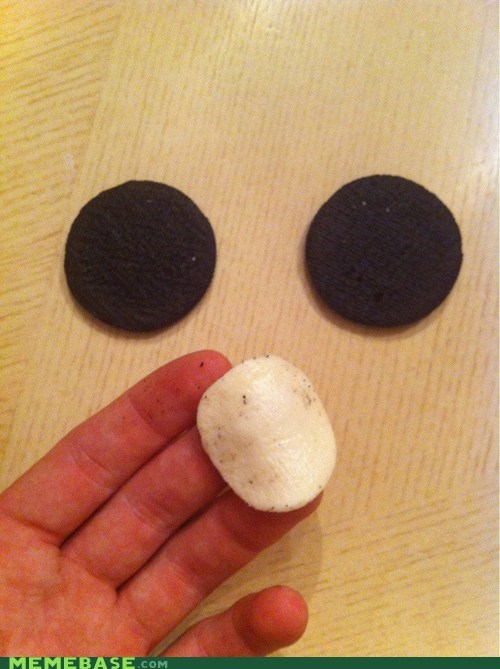 are you a wizard,oreo,the creme filling,the white stuff baby,this is magic