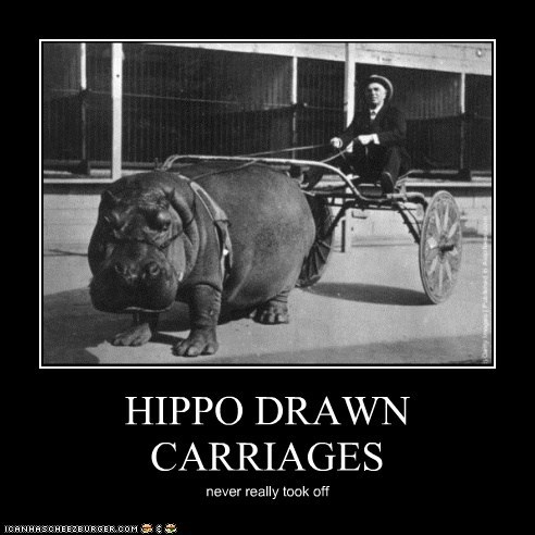 HIPPO DRAWN CARRIAGES never really took off