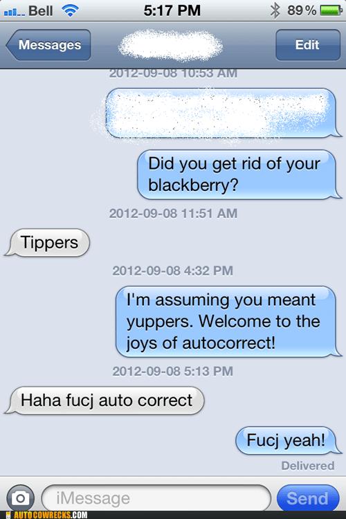 autocorrected blackberry iPhones new phone