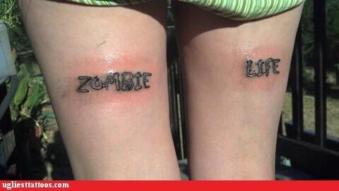 hamstring tattoos,zombie life