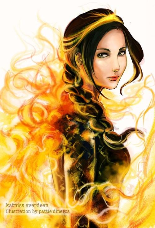 books Fan Art katniss everdeen movies hunger games - 6572724480