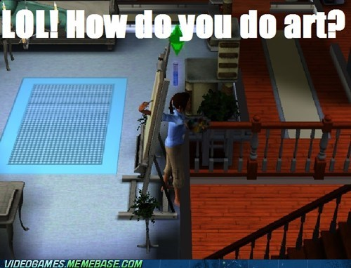 art lol new angle painting The Sims