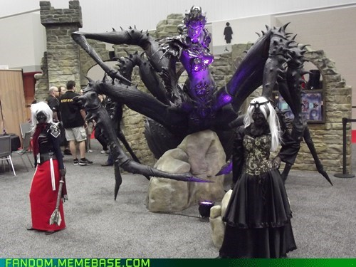 convention,cosplay,dnd,drow,lady lolth