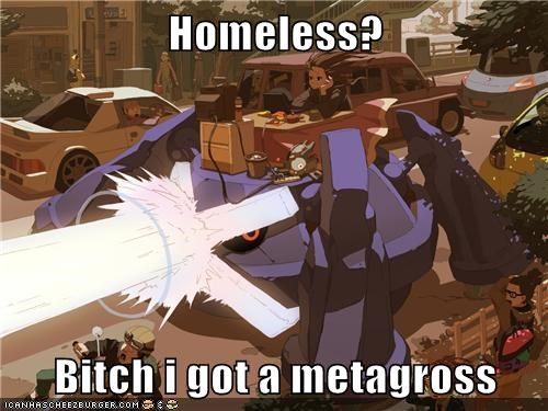 disaster,homeless,metagross,run,street