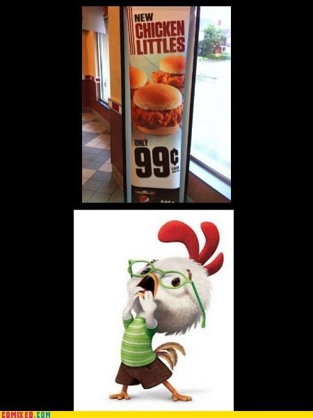 chicken little fast food Movie