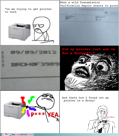 amazing,brohoof,printer,rage comic,serial number