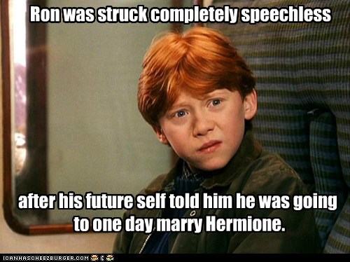 confused,disbelief,future,Harry Potter,hermione,Ron Weasley,rupert grint