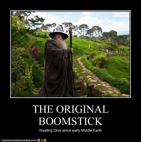 boomstick gandalf ian mckellen Lord of the Rings original The Hobbit