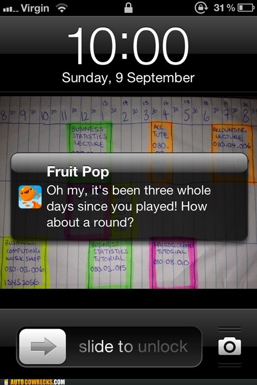 apps,clingy,fruit pop,need my space,notifications