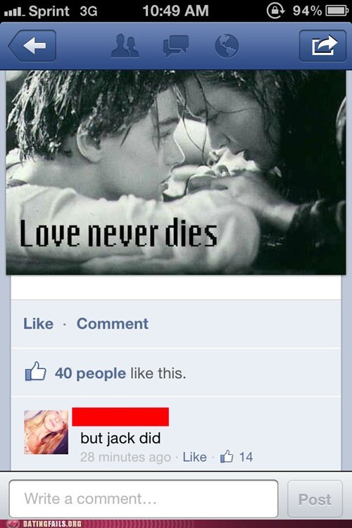 love never dies,never let go jack,technically accurate,titanic