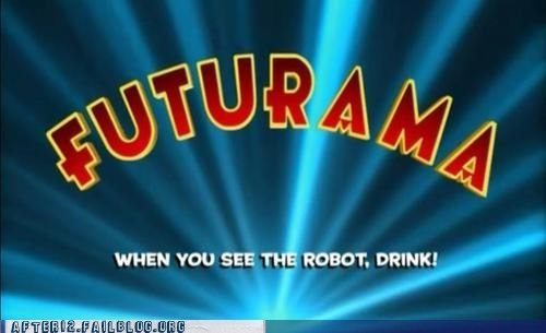 bender cartoons drinking games futurama robot