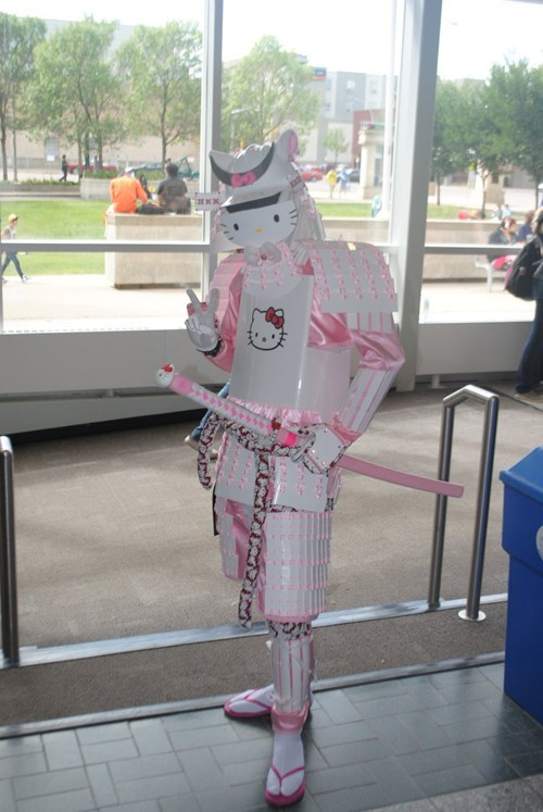 cosplay,hello kitty,samurai