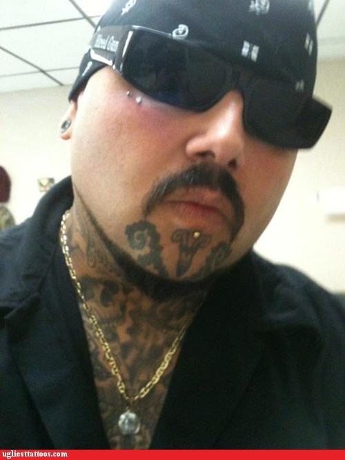 face tattoos,goatees