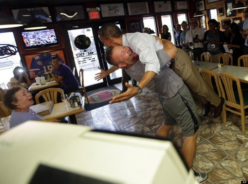 barack obama bear hug bus tour pizza - 6575069440