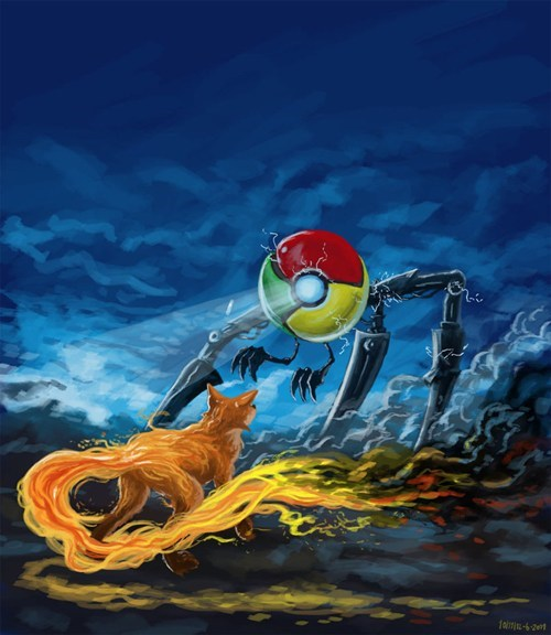 browser wars chrome Fan Art firefox internet