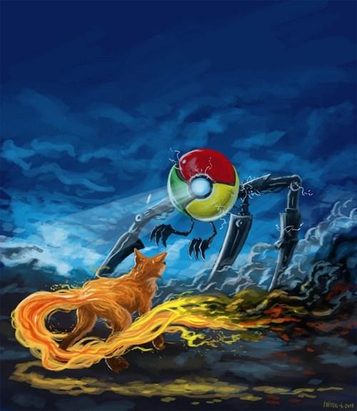 browser wars chrome Fan Art firefox internet - 6575239936