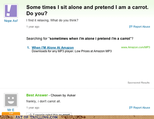 carrot,puns,yahoo answers