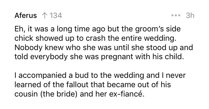 Wedding horror stories from reddit.