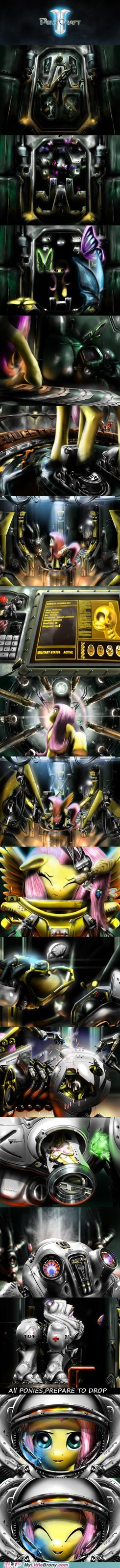 crossover,fluttershy,ponycraft 2,starcraft 2,video games