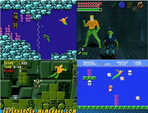 aquaman,video games,water levels
