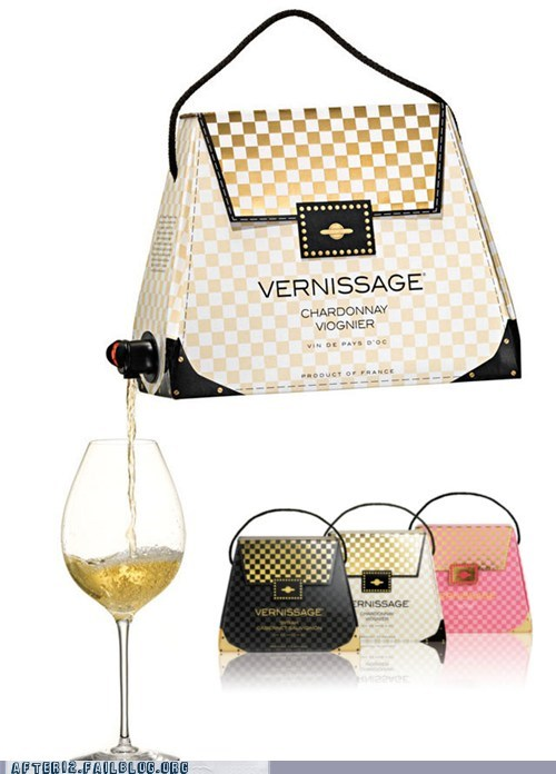 alcohol,boxed wine,chardonnay,purse,sloshed swag