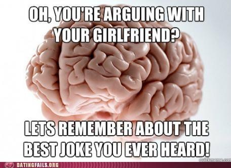 arguing,best joke ever,couple fighting,scrumbag brain
