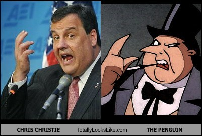 batman,Chris Christie,funny,Governor,politics,The Penguin,TLL