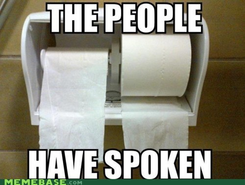 front or back people spoken the-devils-choice toilet paper